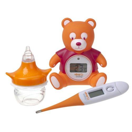 Vital Baby Hygiene- und Gesundheitsset mit Raumthermometer, Nasenaspirator und Thermometer