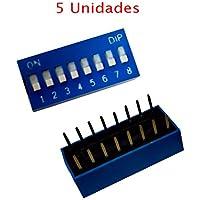 5X INTERRUPTOR DIP 8 VIAS PCB mini microinterruptor posiciones polos circuito