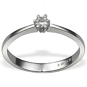 Goldmaid - So R3986WG58 - Bague Femme - Or blanc 585/1000 (14 ct) 2.5 Gr - Diamant 0.1 ct - T 58