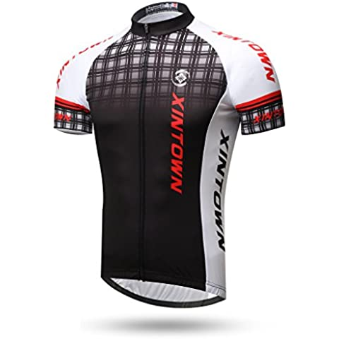 TeyxoCo Men Ciclismo Sportivo Jersey Top XL
