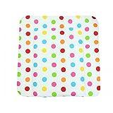 TupTam Baby Wickeltischauflage mit Baumwollbezug Gemustert, Farbe: Muster 6, Größe: 70 x 70 cm
