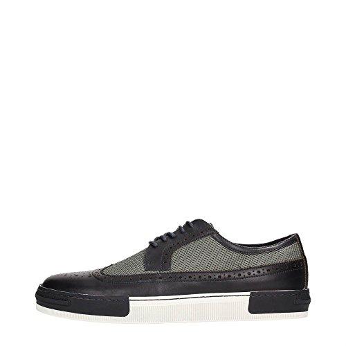 B0432 sneaker uomo scarpa blu ARMANI JEANS AJ shoes men Blu/Grigio
