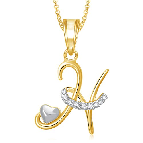 Valentine Gifts Amaal 'S' Alphabet Pendant For Women And Men With Chain PS0327