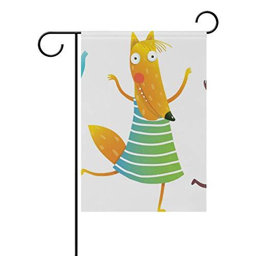 SUNOP Polyester-Gartenflagge niedliche Tiere, Banner 30,5 x 45,7 cm, für den Außenbereich, Haus, Garten, Blumentopf, Dekoration, Partyzubehör