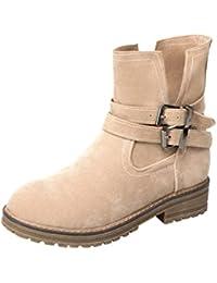 Heheja Mujer Zapatos Ocio Cálido Invierno Nieve Botas Cómodo Plano Botines