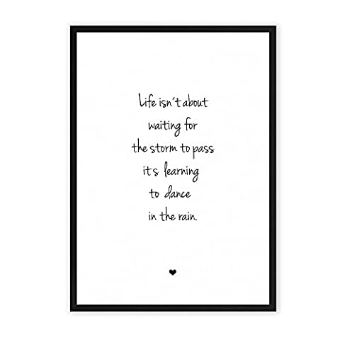 Das Leben meistern - einzigartiger Kunstdruck mit Spruch auf wunderbarem Hahnemühle Papier DIN A4 (optional A3 und A2) -ohne Rahmen- schwarz-weiß - Typografie Wandbild Fine-Art-Print Dekoration Geschenk Geschenkidee Bild Poster Plakat Home Deko shabby chic vintage retro Lebensweisheit Regeln für Zufriedenheit & Glück