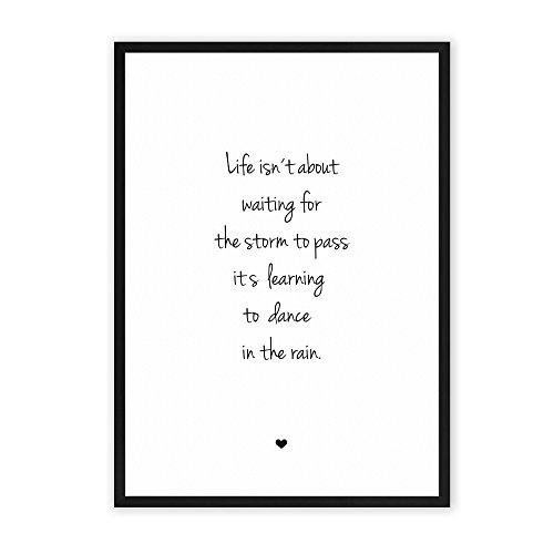 Das Leben meistern - einzigartiger Kunstdruck mit Spruch auf wunderbarem Hahnemühle Papier DIN A4 (optional A3 und A2) -ohne Rahmen- schwarz-weiß - Typografie Wandbild Fine-Art-Print Dekoration Geschenk Geschenkidee Bild Poster (Ideen Eine 80er Party Für)