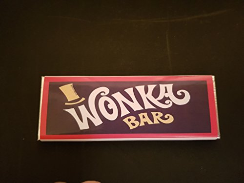 Personalised just for you Custom Wonka Replica chocolate bars x12 with golden ticket