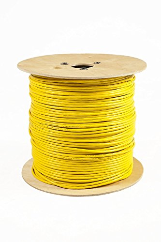 Verlegekabel 500m CAT7 Kabel LAN Ethernet DSL Media Telefon Gigabit 10Gbit Netzwerkkabel halogenfrei Installationskabel PIMF Netzwerk Verkabelung Datenkabel S/FTP 4x2xAWG23 BauPVO EN 50575 gelb