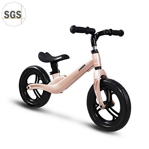 "COEWSKE 12 ""Balance Bike Magnesio Lega No Pedal Walking Balance Training Bicicletta per bambini e bambini 2 a 4 anni (Champagne)"