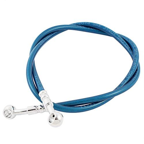 Sourcingmap 1M Motos Cable de Freno de Acero Caucho Manguera Azul 100cm...