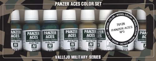 Vallejo 070126 Farbset, Set 3 - Panzer - Uniformen I, 8x17 ml (Modell Panzer Farbe)