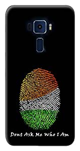 Mott2 Back Case for Asus Zenfone 3 ZE520KL (5.2 Inches) | Asus Zenfone 3 ZE520KL (5.2 Inches)Back Cover | Asus Zenfone 3 ZE520KL (5.2 Inches) Back Case - Printed Designer Hard Plastic Case - Independence Day theme
