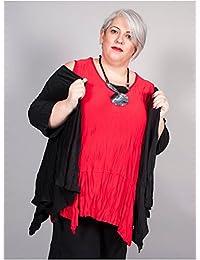 Edmond Boublil - Vêtement Femme Grande Taille Gilet Crinkle Noir