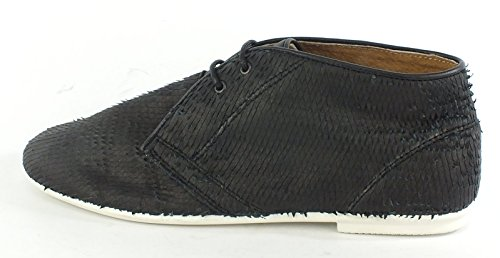 Preto Couro Marca Nenhum 7296 Loafer Brogues xpwHY7OqX