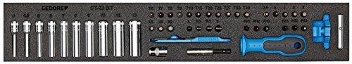 GEDORE Steckschlüssel-Sortiment 1/4 Zoll in CT-Modul, 1500 CTD-20 BIT