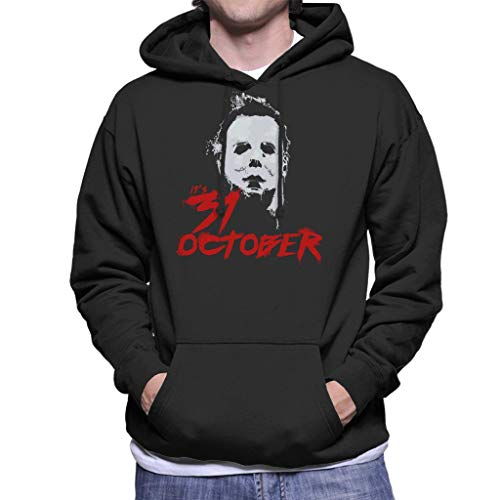Cloud City 7 Halloween Michael Myers Its 31st October Men's Hooded Sweatshirt (Myers Halloween-city Michael)