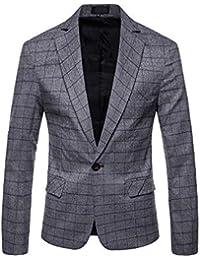 Uomo Cappotto Giacca A Quadri Slim Fit Elegante Classico Vestito di  Cerimonia a231e98ade1