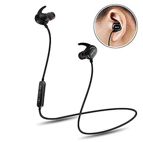 Ecouteur Bluetooth, QCY QY 19 Casque Sans Fil Intra-auriculaire Sport Ultra Lightweight Bluetooth 4.1 CVC 6.0 Noise Cancelling IPX4 Sweatproof