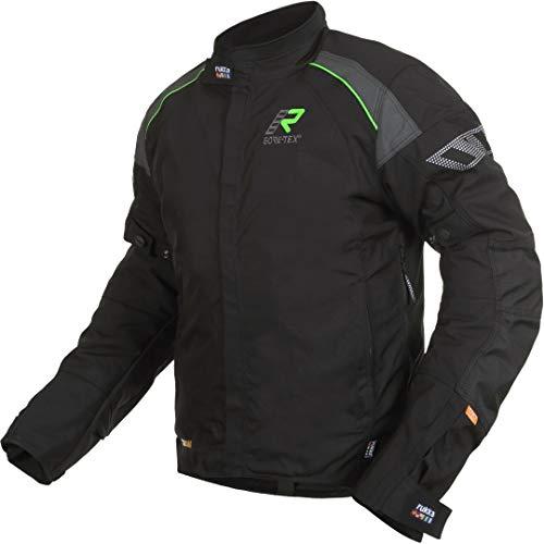 Rukka Veste Gore-Tex HERM noir vert étanche avec protections D3O Air XTR