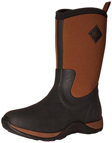 Muck Boots Arctic Weekend Print Rubber, Damen Stiefel, Schwarz - Schwarz/Braun - Größe: 40 EU