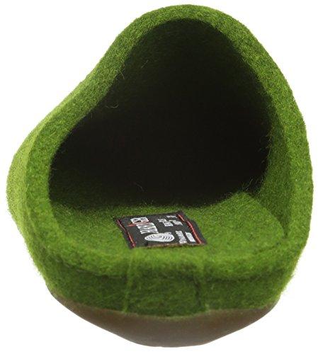 Haflinger Fundus, Chaussons mixte adulte Vert - Grün (Grasgrün 36)