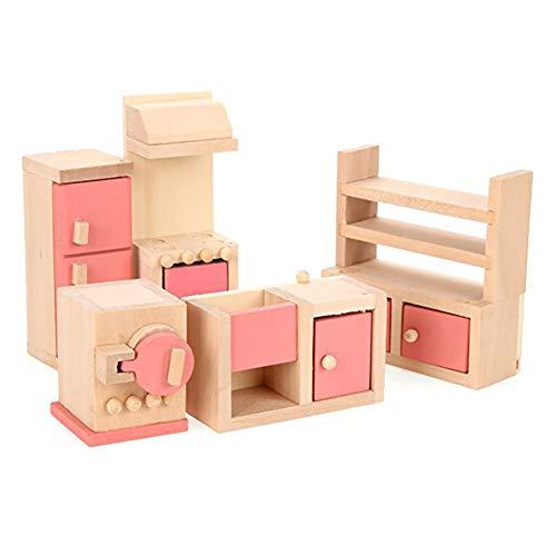 Küchenmöbel-Spielzeug aus Holz Puppenhaus Möbel Küchen Spielzeug-Set (Kuchen Videos)