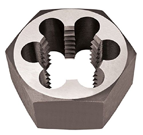 ALFA Tools csrtd70725l 1-1/4-12links Hand Nachschneiden von Gewinden Hex sterben Carbon Stahl