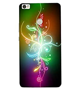 ColourCraft Colourful Flower Design Back Case Cover for XIAOMI MI MAX