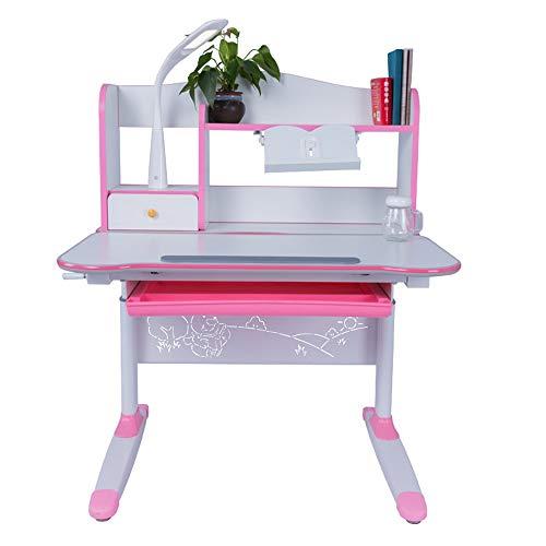 Wuxingqing Kinder Tisch und Stuhl Set Kinder Kippbare Tisch Und Stuhl Studie Schreibtisch Stuhl Tisch Set Für Kinder Kunst Holz Tisch Set Workstation Höhenverstellbar (Farbe : Rosa) -
