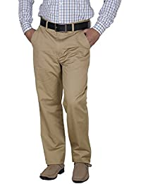 Crocks Club Khakhi Color Cotton Trouser For Men