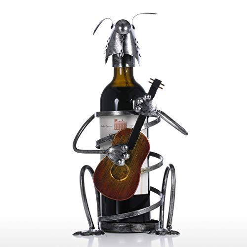 HhGold Welpenwein Flaschenhalter mit Gitarre Eisen Tierfigur Kreative Weinregal Ornament Handwerk Geschenk (Farbe : -, Größe : -)