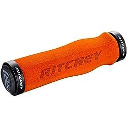 Ritchey WCS Ergo-Puños para manillar de bicicleta, color naranja, 130 mm