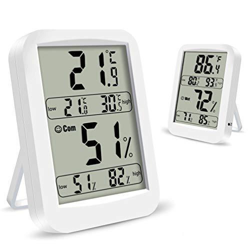 Upworld 2 StückHygrometer Digital Innen, Thermometer Innen Hygrometer Luftfeuchtigkeit Raumthermometer Luftfeuchtigkeitsmessgerät mit Hohen Genauigkeit, Geeignet für Babyzimmer, Wohnzimmer, Büro