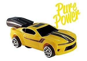 Whistle Racer WR1PPBC2 Pure Power - Coche de Juguete, Color Amarillo