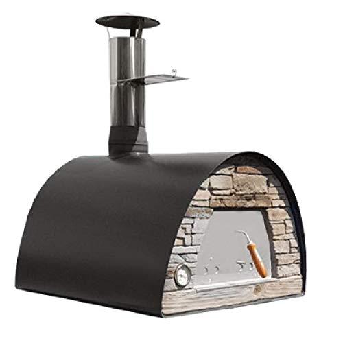 My-Barbecue Horno de Pizza de leña portátil y móvil, Color Negro