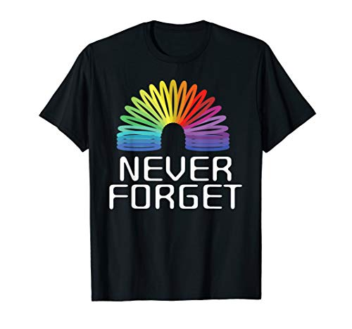 90er Party Outfit Tshirt | Spielzeug Spirale Regenbogen (Doppelter Regenbogen Kostüm)