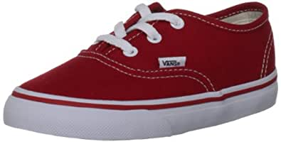 Vans Authentic Canvas, Unisex-Childs' Low-Top Trainers, Red, 6.5 UK Child