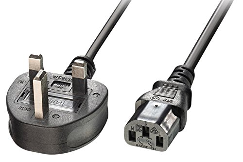 Price comparison product image LINDY 5 m UK 3 Pin Plug to IEC C13 Mains Power Cable - Black