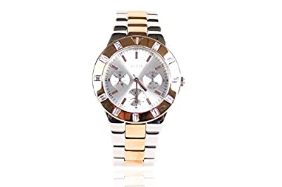 Guess Wristwatch Ladies W14551L1 Reloj Cronógrafo Pulsera Silver Rose Gold Acero inoxidable - Dial Silver