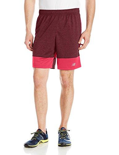 New Balance Herren Training Shorts Blockfarben Crimson M (Shorts Athletic New Balance)