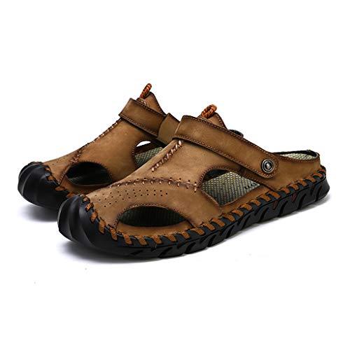Sandali Estivi da Uomo Classici in Pelle Romana Sandali 2019 Pantofola da Esterno Scarpe da Spiaggia Sandali Infradito da Uomo Trekking in Acqua