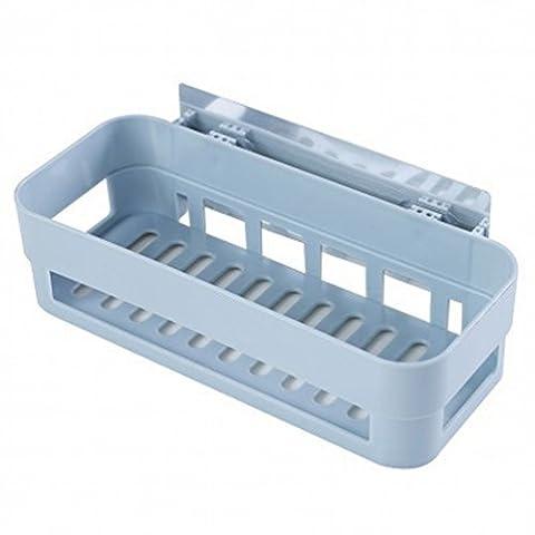 Starke Nahtlose Aufkleber Regal / Küche Wandentwässerung Regal / Badezimmer Lagerung Regal,Blau