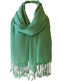 3b1abcba4a5e World of Shawls monde de châles Uni pashmina écharpe hijab écharpe étole  enveloppant haute qualité 100