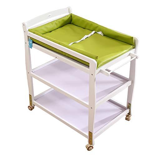 Table à Langer, Table à Langer de Chambre de bébé, Station de Bureau en Bois pour bébé, 3 Couleurs en Option (Couleur : Green)