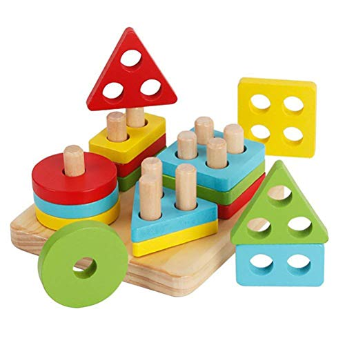 Spielzeug Set Geometrische Form Sortierung Bord Bildung Spielzeug Interaktive Puzzles Spiel Spielen Kleinkinder Kinder ()