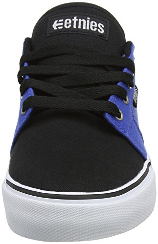 Etnies Herren Barge LS Skateboardschuhe, Dark Grey/Grey/Red Blue (Black/Blue/White)