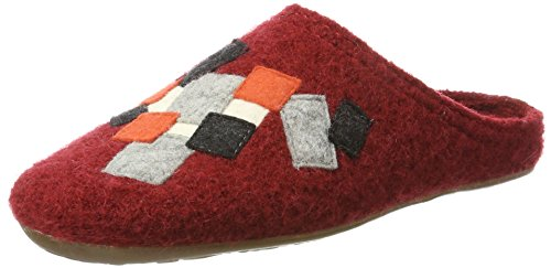 Haflinger Everest Pixel, Chaussons Mules Mixte Adulte Rot (Paprika)