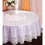 """100% Embossed Vinyl PVC Lace Round Tablecloth Table Cover 54"""" (135cm)"""