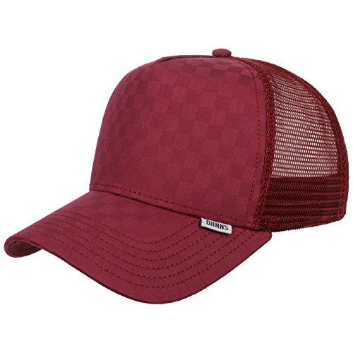 DJINNS - Tie Check (wine) - Trucker Cap Meshcap Hat Kappe Mütze Caps